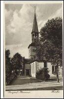 BURGDORF b. Hannover um 1930 Strassen Partie a.d. Kirche alte Ansichtskarte