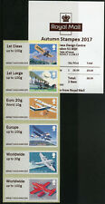 More details for gb 2017 mnh mail by air post & go autumn stampex 6v collectors strip a013 stamps