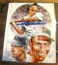 **** TED WILLIAMS ORIGINAL AUTOGRAPHED PETRONELLA 8X10 PRINT BOSTON RED SOX HOF