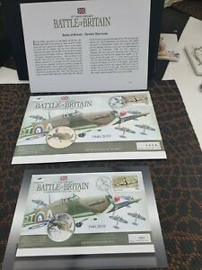 2010 GUERNSEY £5 Five Pound Battle of Britain Hawker Hurricane Coin Cover FDC