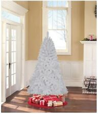 Holiday Time 6.5 unlit Jackson Spruce Artificial Christmas Tree white tinsel