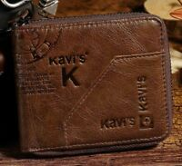 Genuine Leather Wallet Men Coin Purse Male Small Walet  Rfid Mini Vallet
