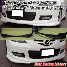 S Style Front Bumper Lip (ABS) Fits 07-09 Mazda 3 4dr S-Model