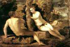 Tintoretto Adam And Eve A4 Print