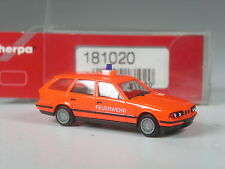 selten: Herpa BMW 525i touring Feuerwehr tagesleuchtrot in OVP