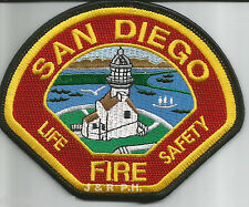 """San Diego Fire Dept.  """"Life - Safety"""", CA  (4.5"""" x 3.75"""" size)  fire patch"""