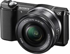 New Sony a5000 20.1MP Digital SLR Camera - Black (Kit w/ E PZ OSS 16-50mm Lens