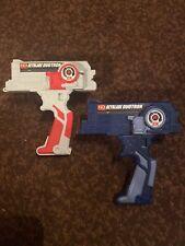 2 Plastic/Old Gen Hasbro BEYBLADE  2X DUOTRON Dual Laucher Grey/Red & Dark Blue