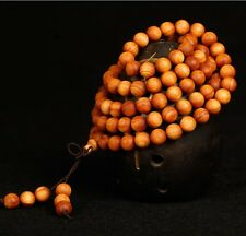 Fragrant 8mm Cedar Wood Buddhist Mala 108 Prayer Beads Bracelet Necklace-32""