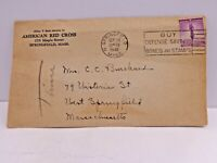 American Red Cross 1942 Buy Defense Savings Bonds & Stamps Cover Springfield MA