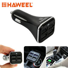HAWEEL Universal 5V 6.8A 4 USB Ports Car Charger For Cell Phone Tablet Device