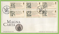 G.B. 2015 Magna Carta set on u/a  Royal Mail First Day Cover, Leicester