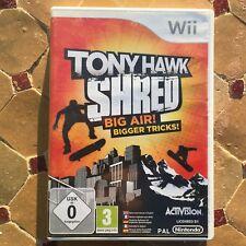 TONY HAWK SHRED BIG AIR NINTENDO WII