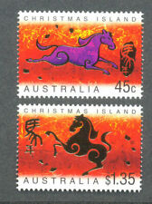Christmas Island Year of the Horse  mnh 2002 set