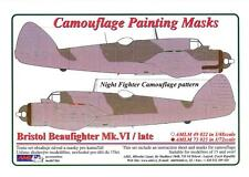 AML Models 1/72 CAMOUFLAGE PAINT MASKS BRISTOL BEAUFIGHTER Mk.VI NIGHT FIGHTER