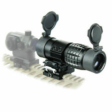 Tactical 3X Magnifier Scope Sight Rifle scope With Flip To Side 20mm Rail Mount