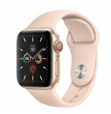 Reloj de Apple serie 5 40mm Dorado Funda Rosa Arena Sport banda Gps + Menta de celular