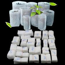 100 Pcs White Biodegradable Non-woven Nursery Bags Plant Bag