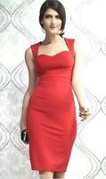 Stock 58 Capi Abito Vestito Donna Miniabito KEY LOVER B740 Rosso Tg Unica S/M