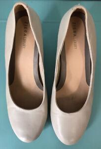 ZIERA LUXURY 'Farah' Nude Medium Heels Removable Innersole Size 38W AU 7.5 EUC