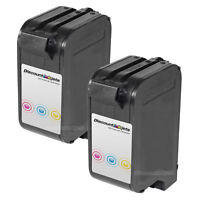 2PK 78 C6578DN for HP Tri-COLOR Ink Cartridge Officejet V40 V40xi G55 G55xi K80x