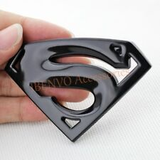 Black Chrome Metal Triangle Dusts Superman Car Vehicle Emblem Badge Accessories