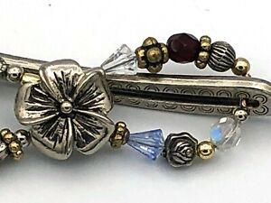 Lilla Rose Flexi8 Hair Clip - Silver + Multicolor - SMALL (#481)