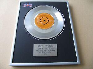 DAVID CASSIDY I Write The Songs PLATINUM PRESENTATION DISC