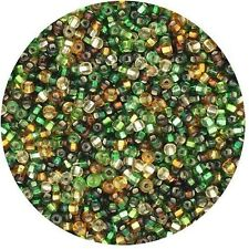 Czech Glass Seed Beads Size 11/0 Autumn Silver Lined  Mix
