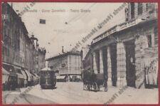 BRESCIA CITTÀ 188 TRAM n° 3 - CINEMA CENTRALE - CARROZZA Cartolina viagg. 1915