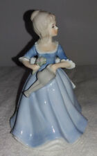 Lovely Vintage Alfretto Porcelain Lady Figurine Holding Flowers & Watering Can