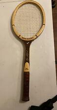 "Vintage Snauwaert Brian Gottfried Ceniza Madera Tenis Raqueta 4 5/8"" Bélgica"