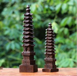New Chinese Wenchang Tower Building Tourist Souvenir Wood Decoration