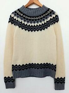 Gant Women's Nordic Fair Isle Style Jumper Knit Medium