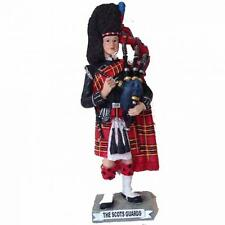 Scottish Figurine -  Military Royal Scots Guard Piper (Large) - by Small World