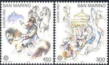 San Marino 1982 Europa/Napoleon/Horses/People/Politics/Art 2v set (n43470)