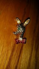"""Broach (Size: 1 1/2"""" tall) Gold Color Reindeer Pin /"""
