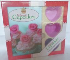 Delicious Cupcakes Cake Design Book 6 colourful Reusable Silicon Heart Moulds
