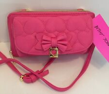 NWT Betsey Johnson Wallet On A String PINK  BR24025 MSRP $75