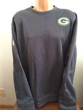 Nike Mens 3XL NFL Green Bay Packers Therma Fit Dark Gray Sweatshirt 538647 060