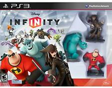 NEW PS3 Disney Infinity 1.0 Starter Pack Kids Game w/ 3 Figures Jack Incredibles