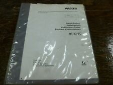 Wacker Rt82 Sc Trench Roller Parts Catalog Manual Book
