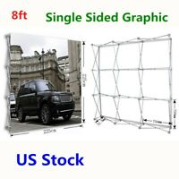 USA! 8ft Tension Fabric Display Pop Up Backdrop Trade Show Exhibition Booth
