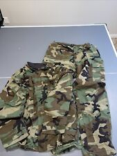 Us Military Chemical Protective Woodland Camo Suit Coat Amp Pants Large