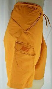Nike Men Gold Lined Swim Trunk Shorts Drawstring Size XL