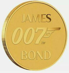 2020 0.5 Gram GOLD Tuvalu JAMES BOND 007 Coin. Carded