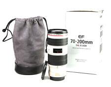 Canon EF 70-200mm Image Stabilizer F4 L IS USM Zoom Lens + F/R Lens Caps & Case