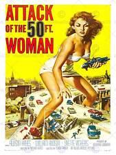 ADVERT MOVIE FILM CULT CLASSIC 50 FOOT WOMAN ATTACK USA PRINT BB4659B