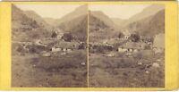 Gabas Laruns IN Vallée Ossau Francia Stereo Stereoview Vintage Albumina Ca 1870