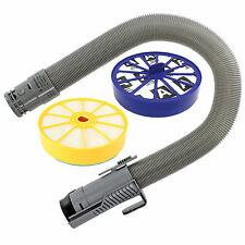 Grey Stretch Hoover Hose & Pre / Post Filter Kit for DYSON DC07 Vacuum Cleaner